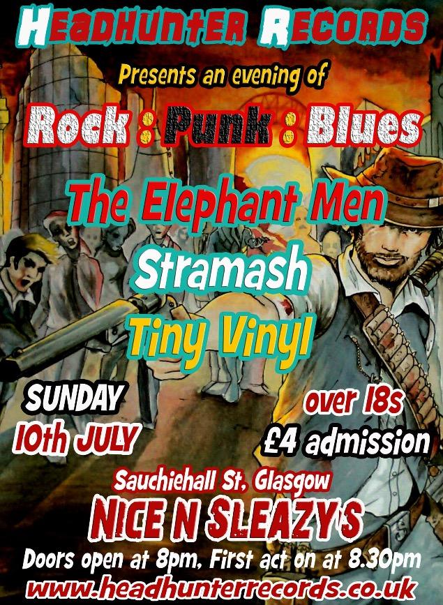 Tiny Vinyl + Stramash +  The Elephant Men