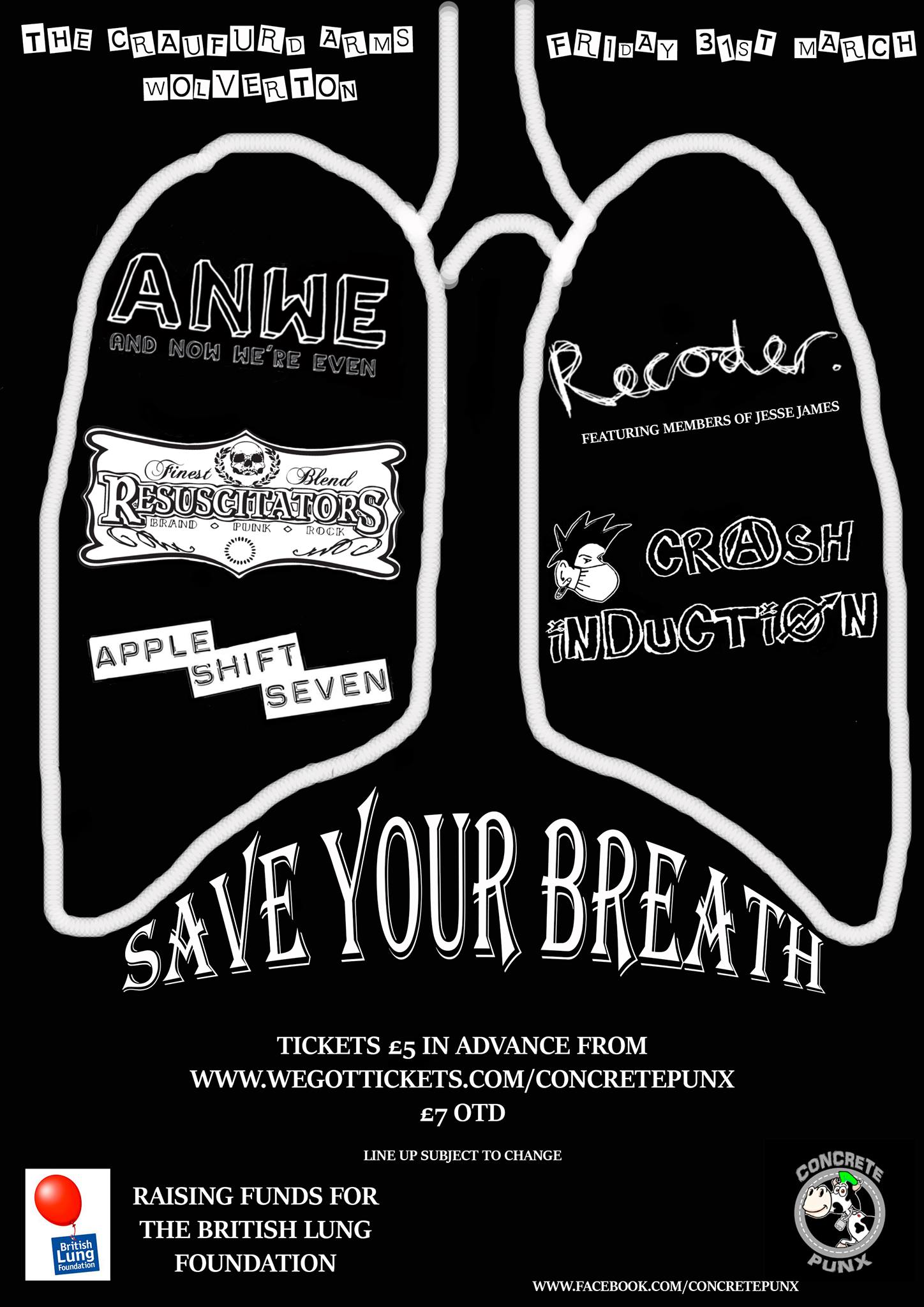 Save Your Breath - British Lung Foundation Benefit