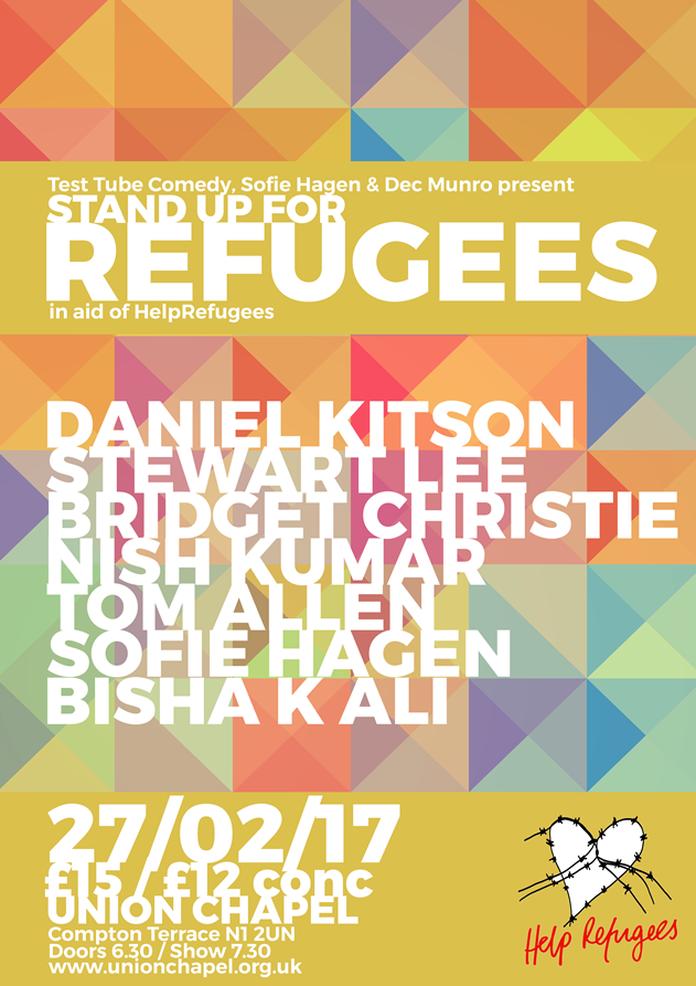 A benefit for Help Refugees with Daniel Kitson
