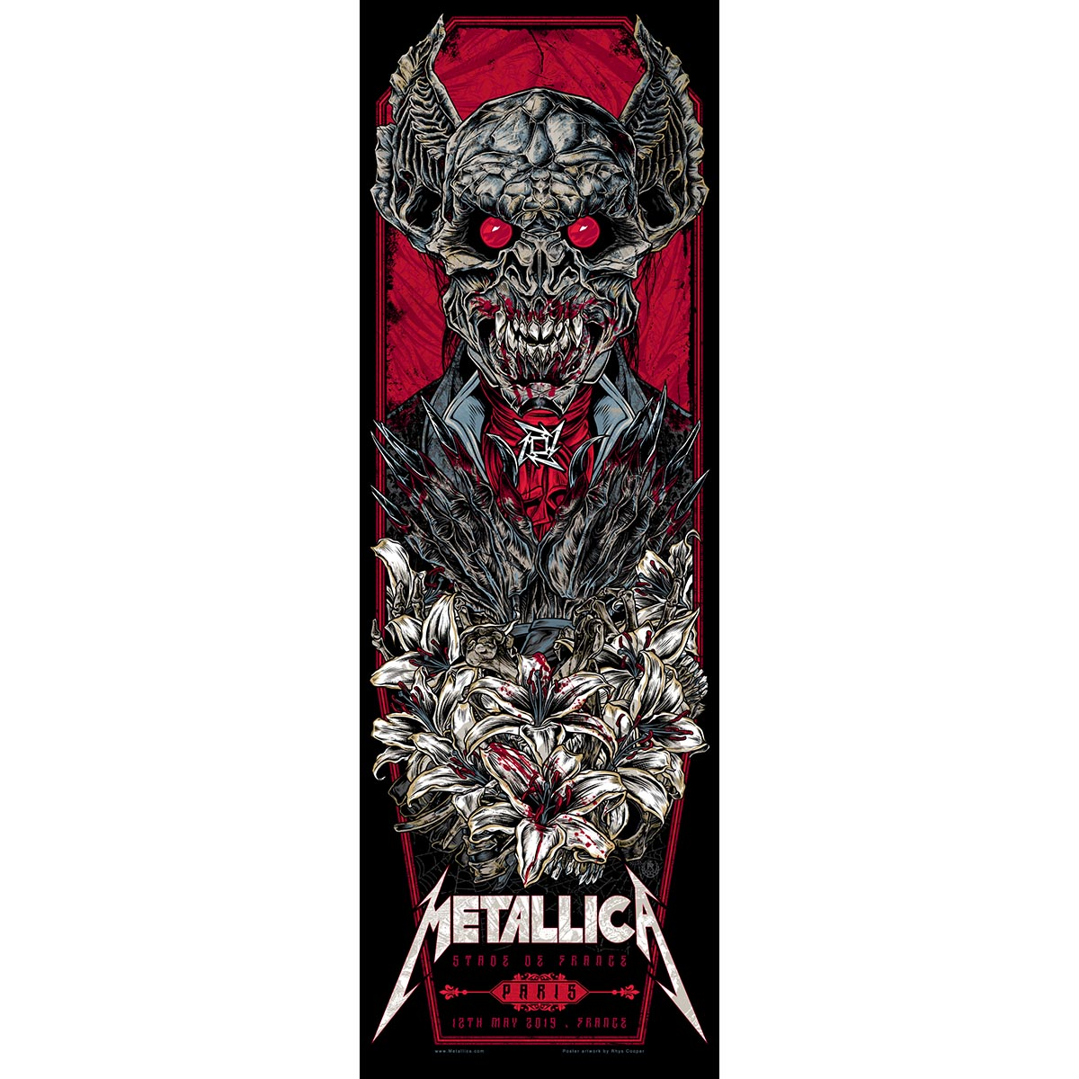 Paris May 12th – Limited Edition Numbered Screen Printed Event Poster - Metallica