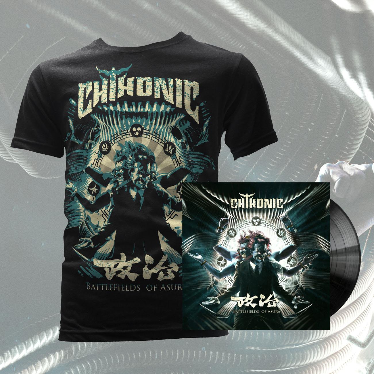 CHTHONIC - 'Battlefields of Asura' (Taiwanese Version LP) + T-Shirt Bundle - CHTHONIC