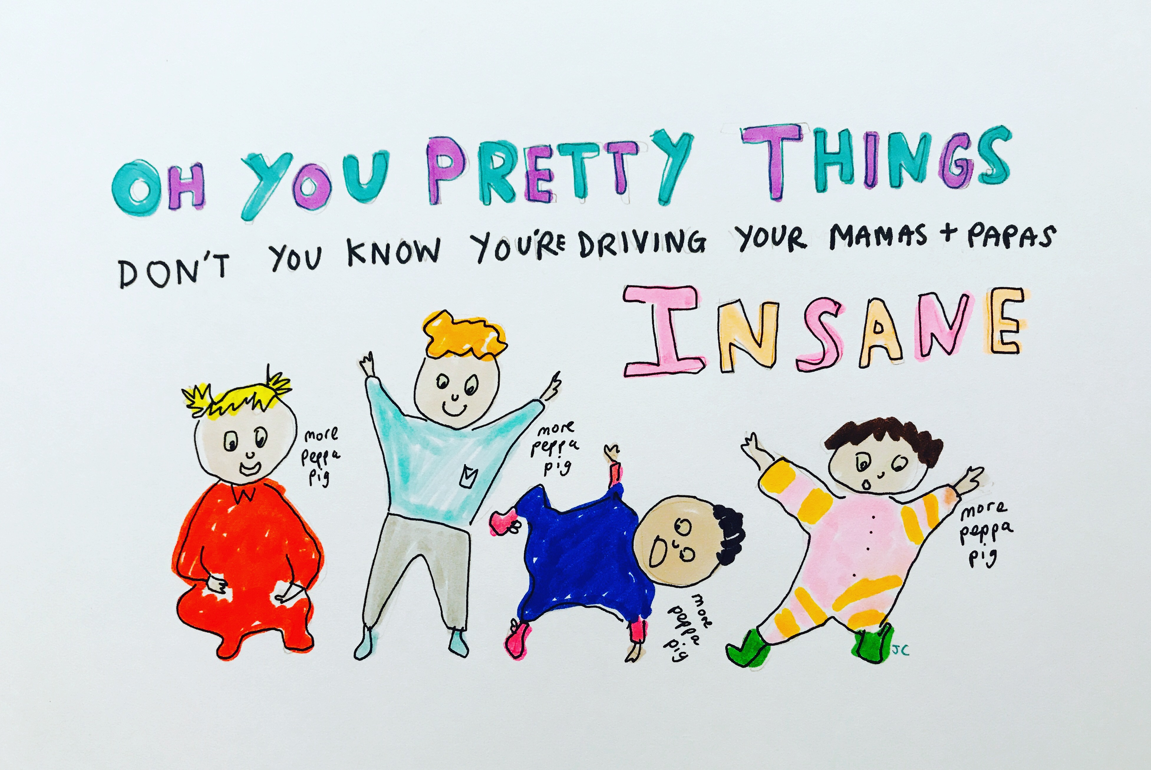 OH YOU PRETTY THINGS PRINT - Jessie Cave