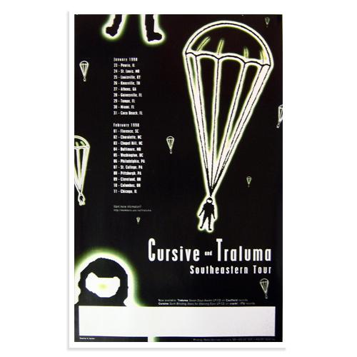 Cursive Poster - 1998 Southeastern Tour - Cursive