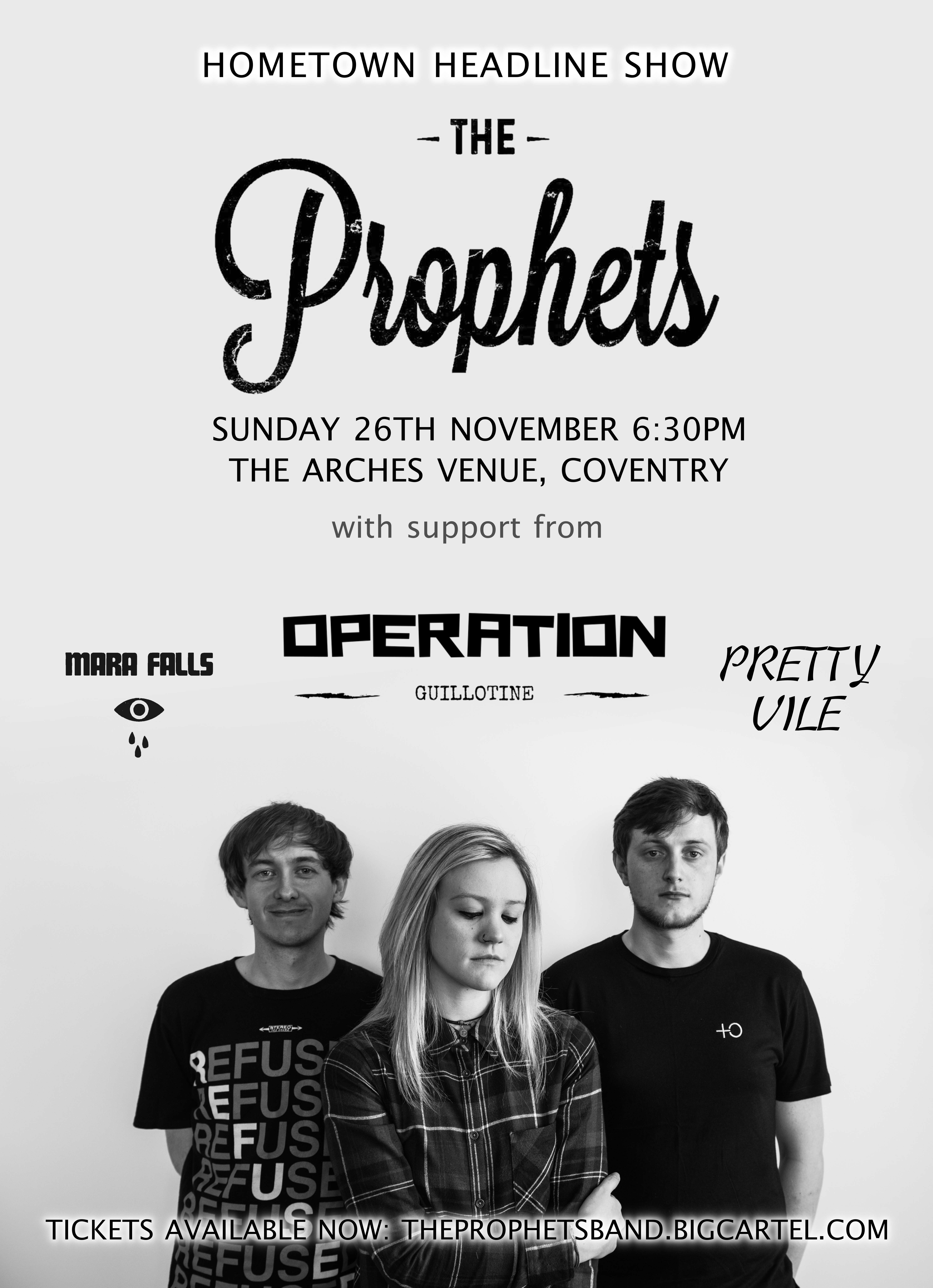 Mara Falls  support The Prophets @ The Arches, Coventry - 26th November 2017
