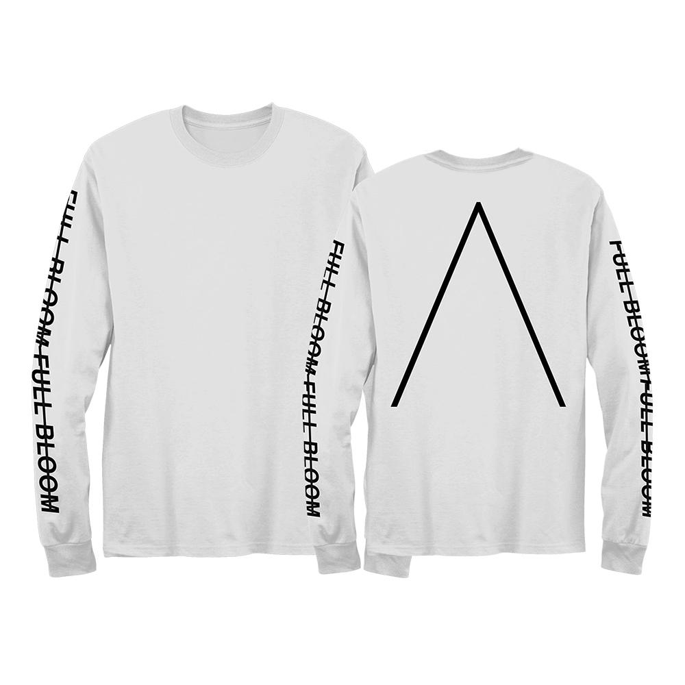 Full Bloom Long-Sleeved T-Shirt [White] - Alpines