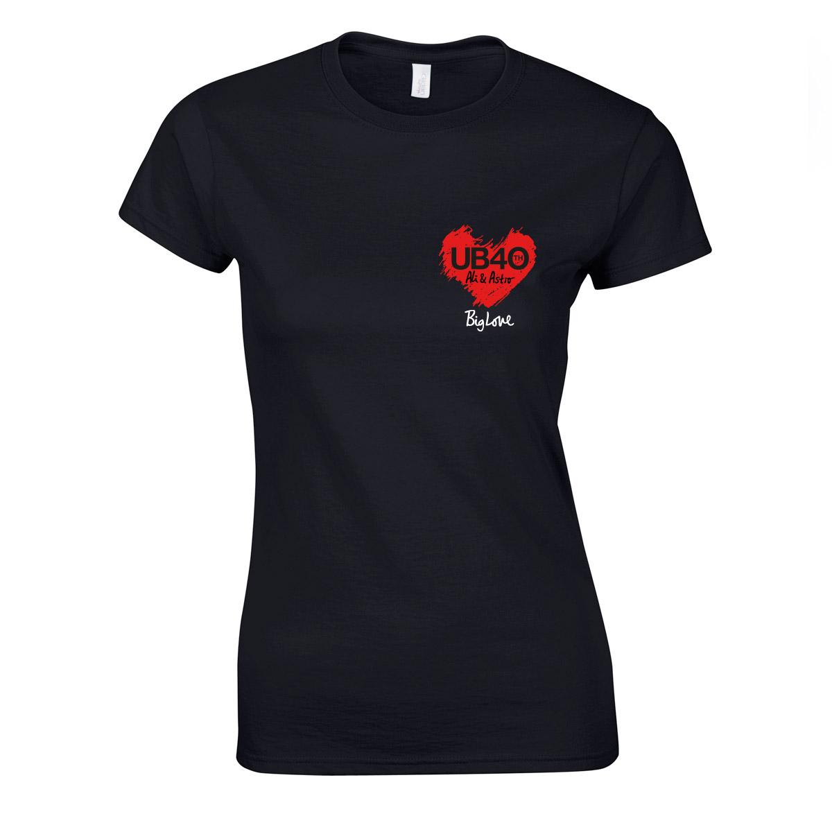 Big Love - Ladies Black Tee - UB40