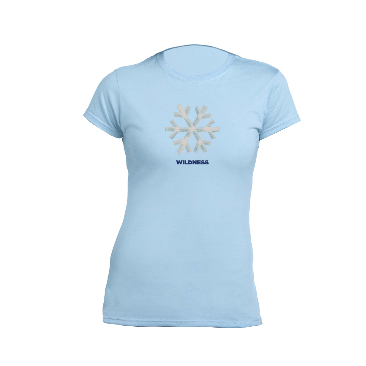 Snowflake Tour - Date Back Ladies Blue Tee - Snow Patrol