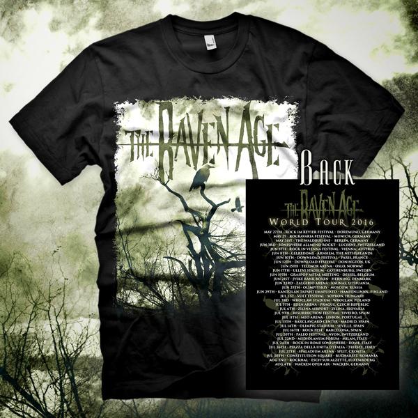 The Raven Age European 2016 Tour - T-Shirt - The Raven Age