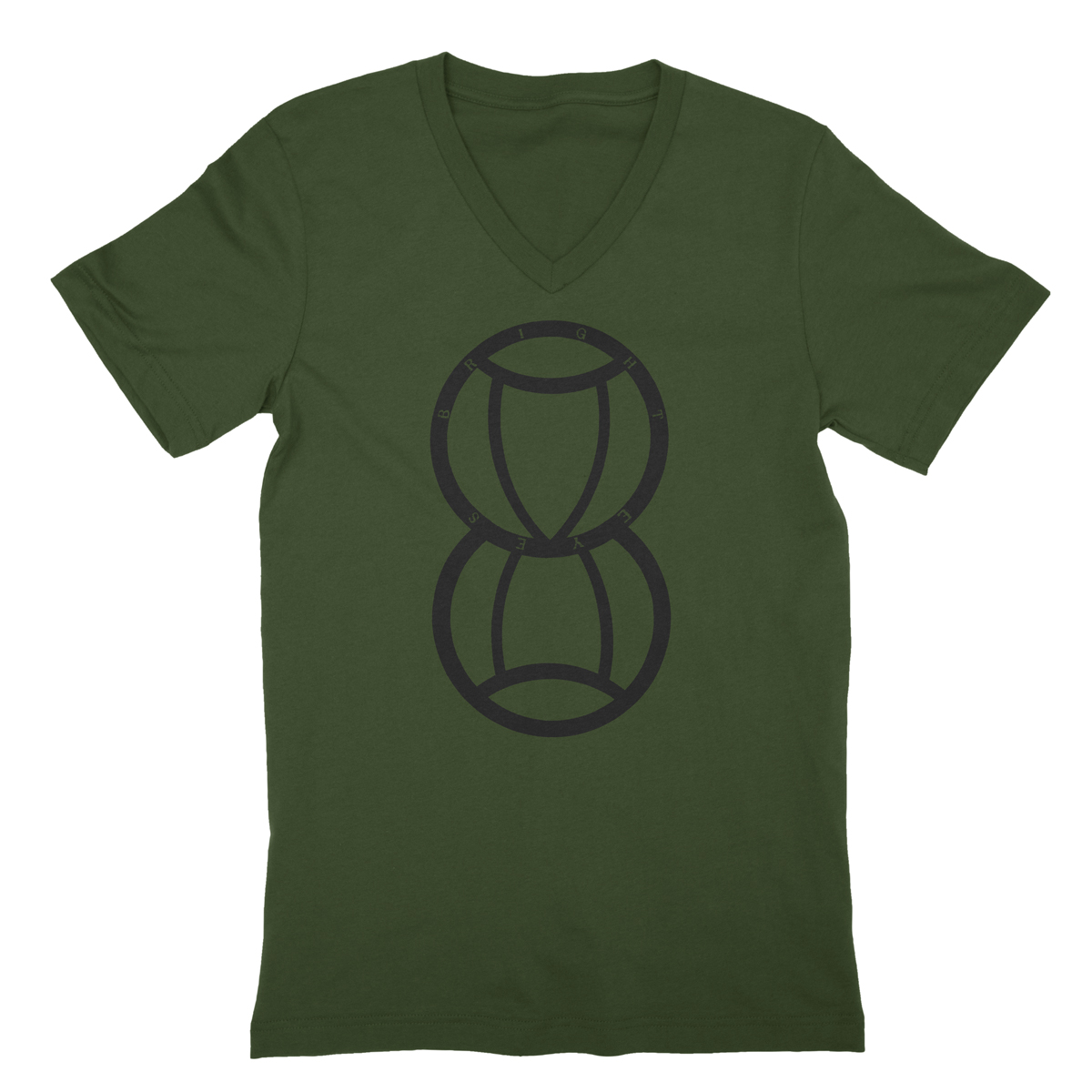 Hourglass Olive V-neck Tee - Conor Oberst