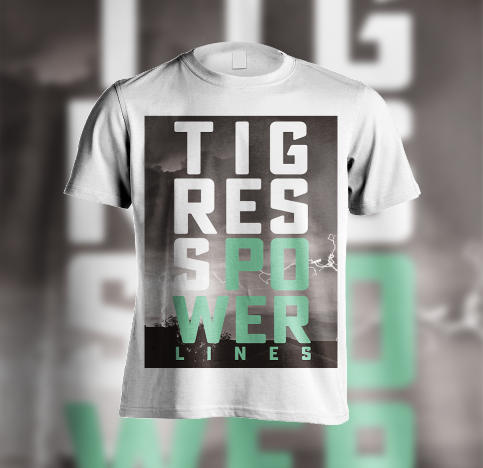 POWER LINES STACKED T-SHIRT - TIGRESS