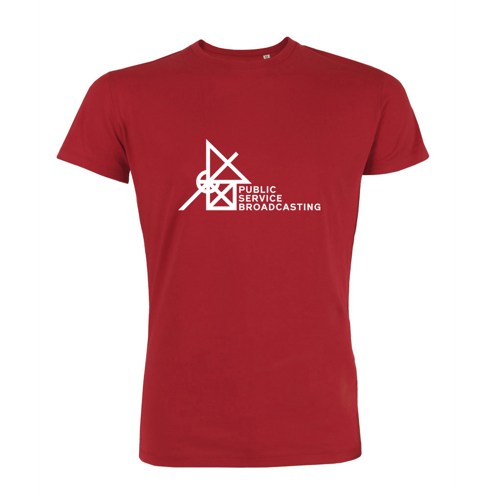 'Every Valley' Logo T-Shirt (Red) - PUBLIC SERVICE BROADCASTING USA