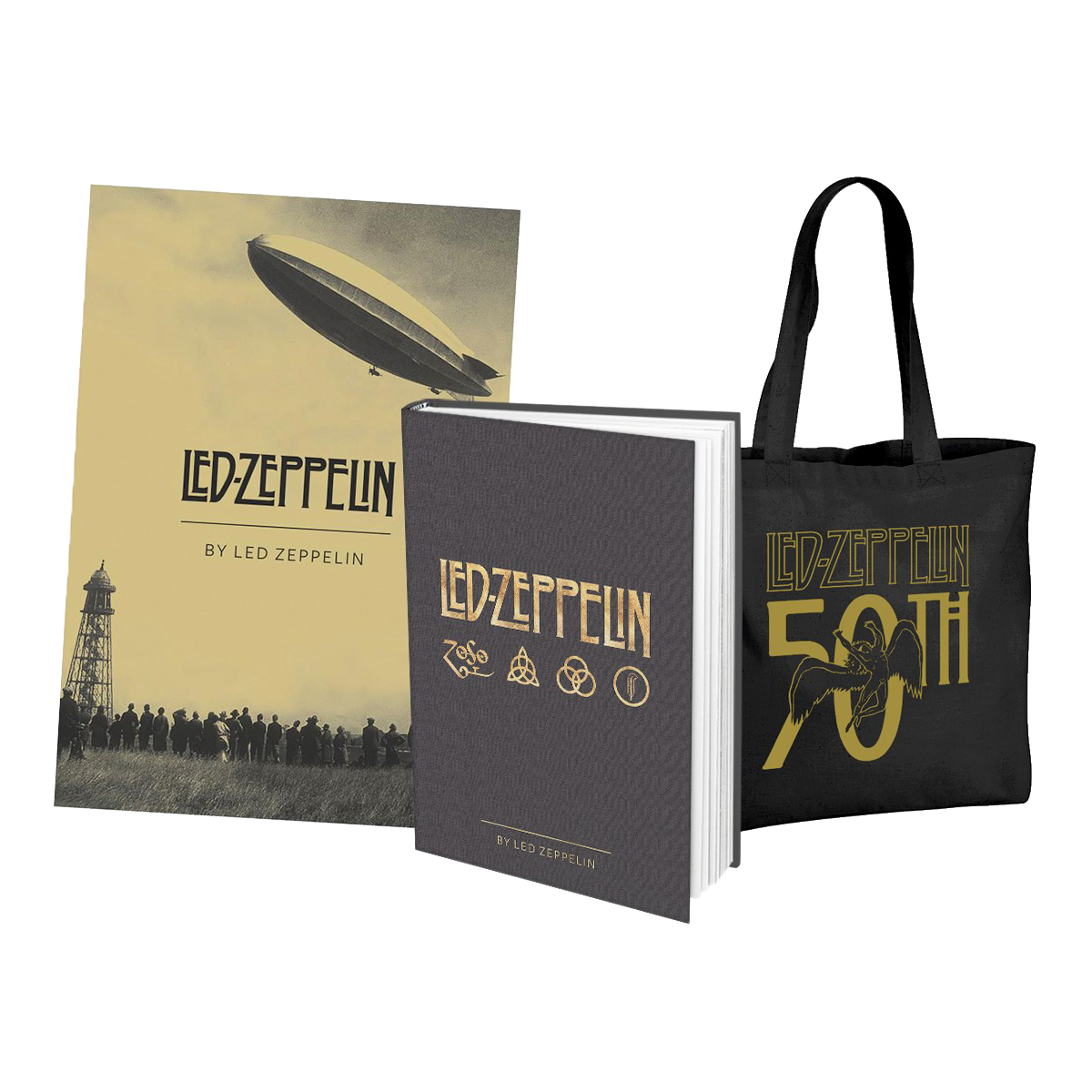 Led Zeppelin – By Led Zeppelin – Hardback Book + Bag and Poster Bundle - Led Zeppelin US