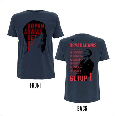 Back Head Shot - Blue Tee - Bryan Adams