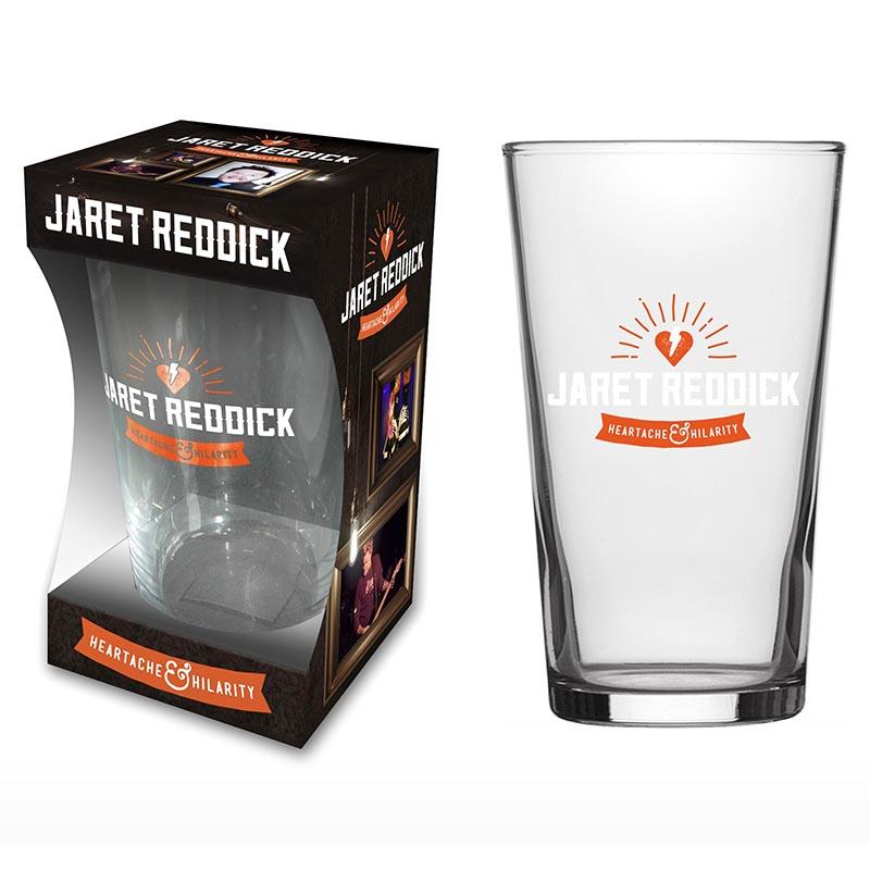 H&H Logo – Pint Glass - Jaret Reddick