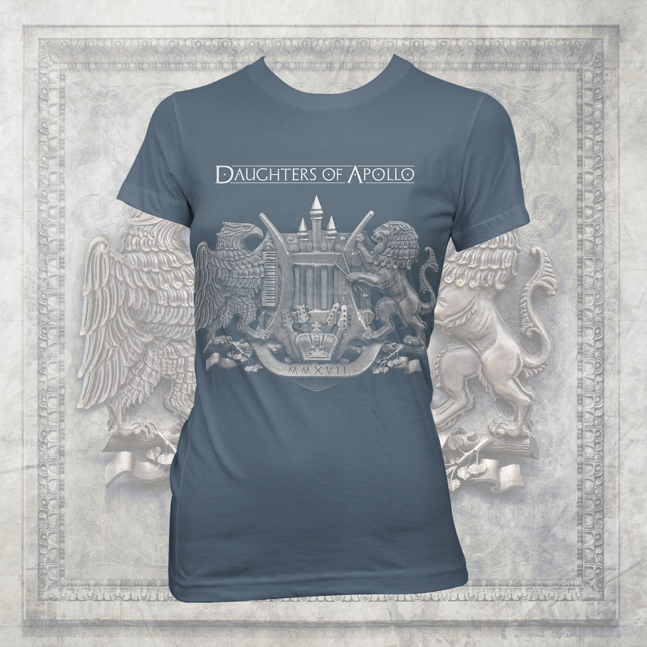 Sons of Apollo - 'Daughters Crest' Fitted T-Shirt - Sons of Apollo