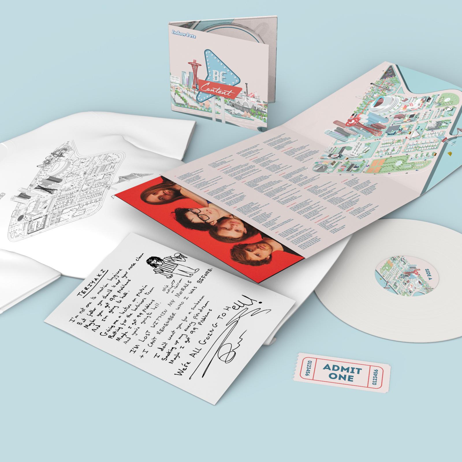 Signed Album + Ticket + T-Shirt + Handwritten Lyric Sheet - Indoor Pets