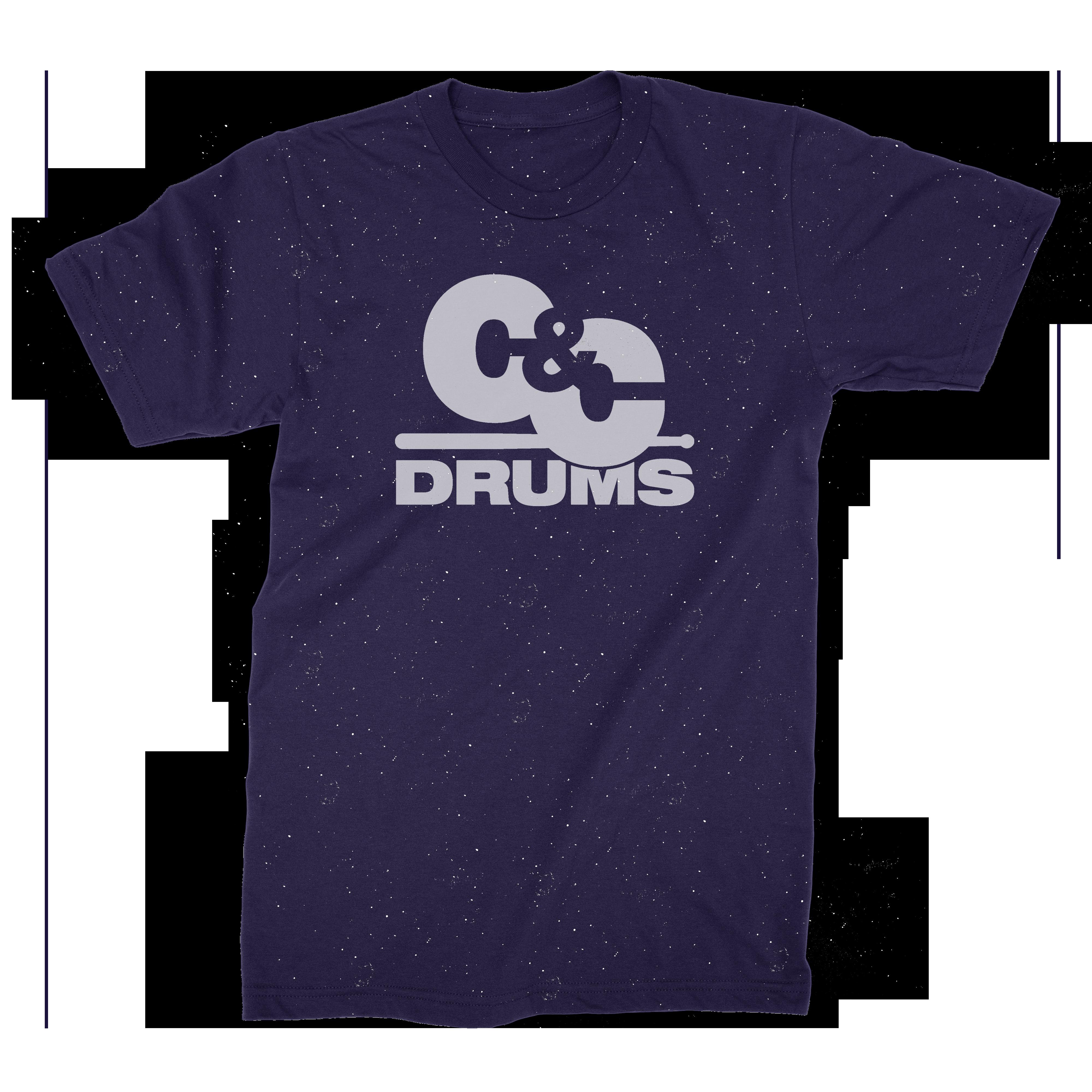 70s Tee - Speckled Navy - C&C Drums