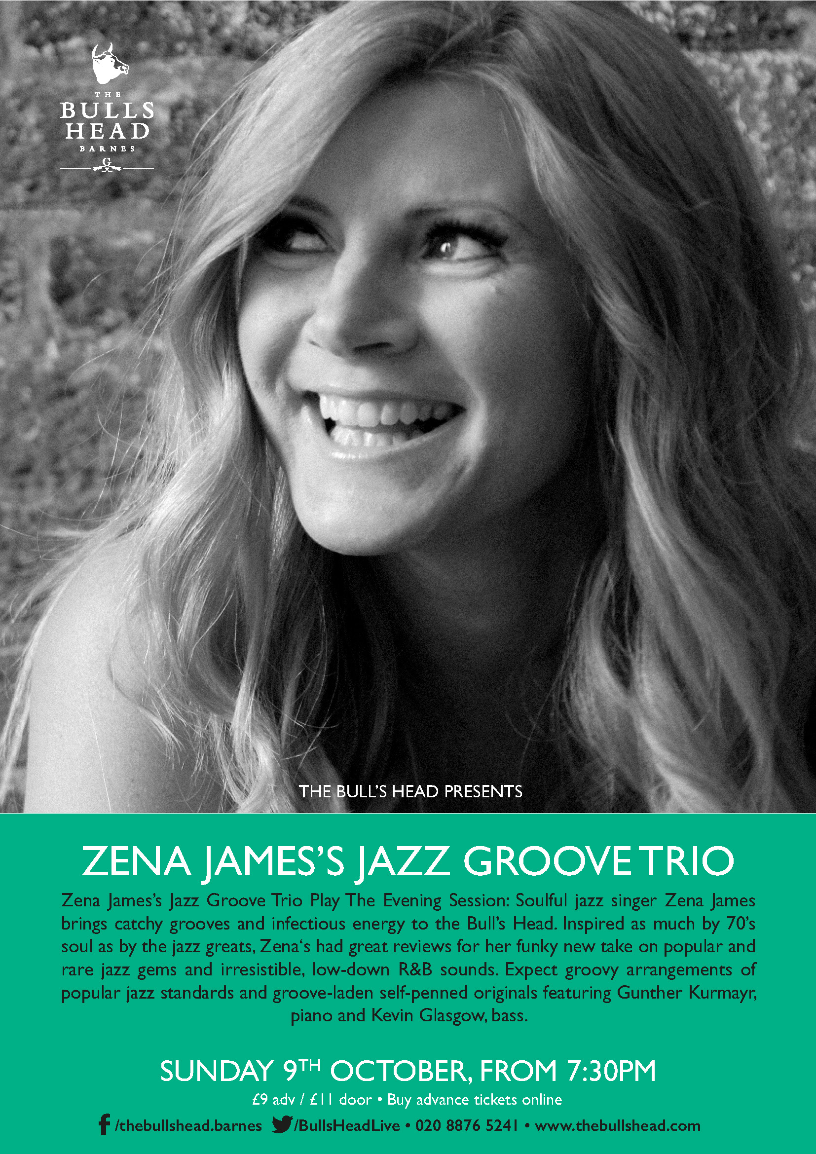 Zena James's Jazz Groove Trio Play The Evening Session