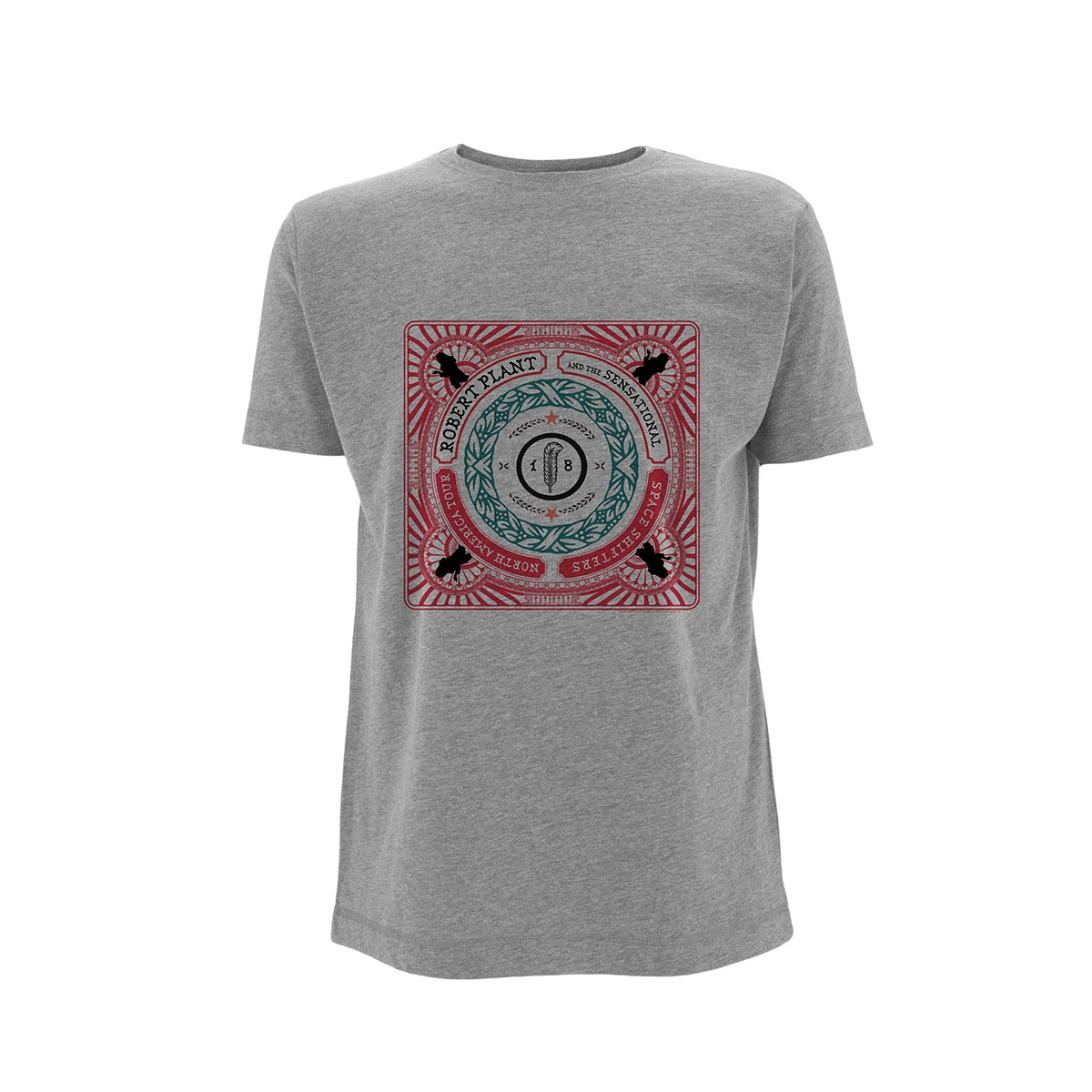 Retrographic North America Tour -  Grey Tee - Robert Plant