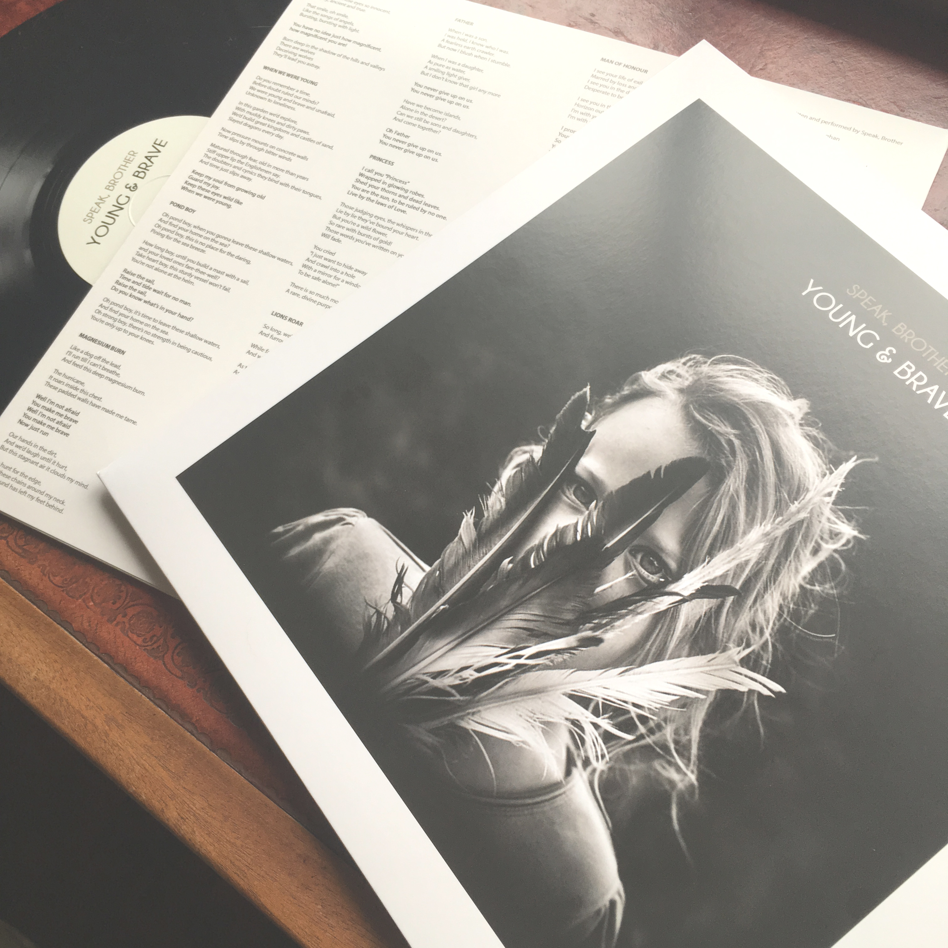 """""""Young & Brave"""" Signed 12"""" Vinyl and Download - Official Speak, Brother Merchandise, Downloads and Tickets"""