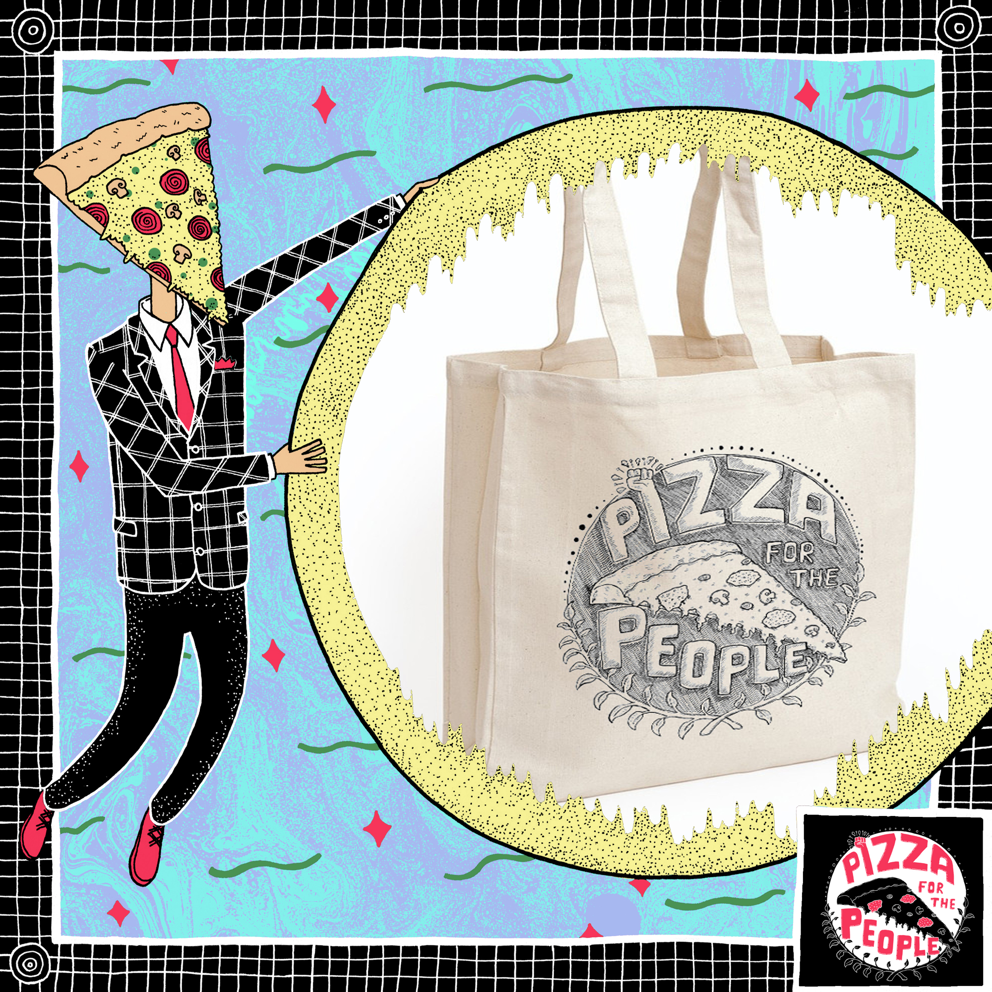 PFTP Logo Tote - Pizza For The People