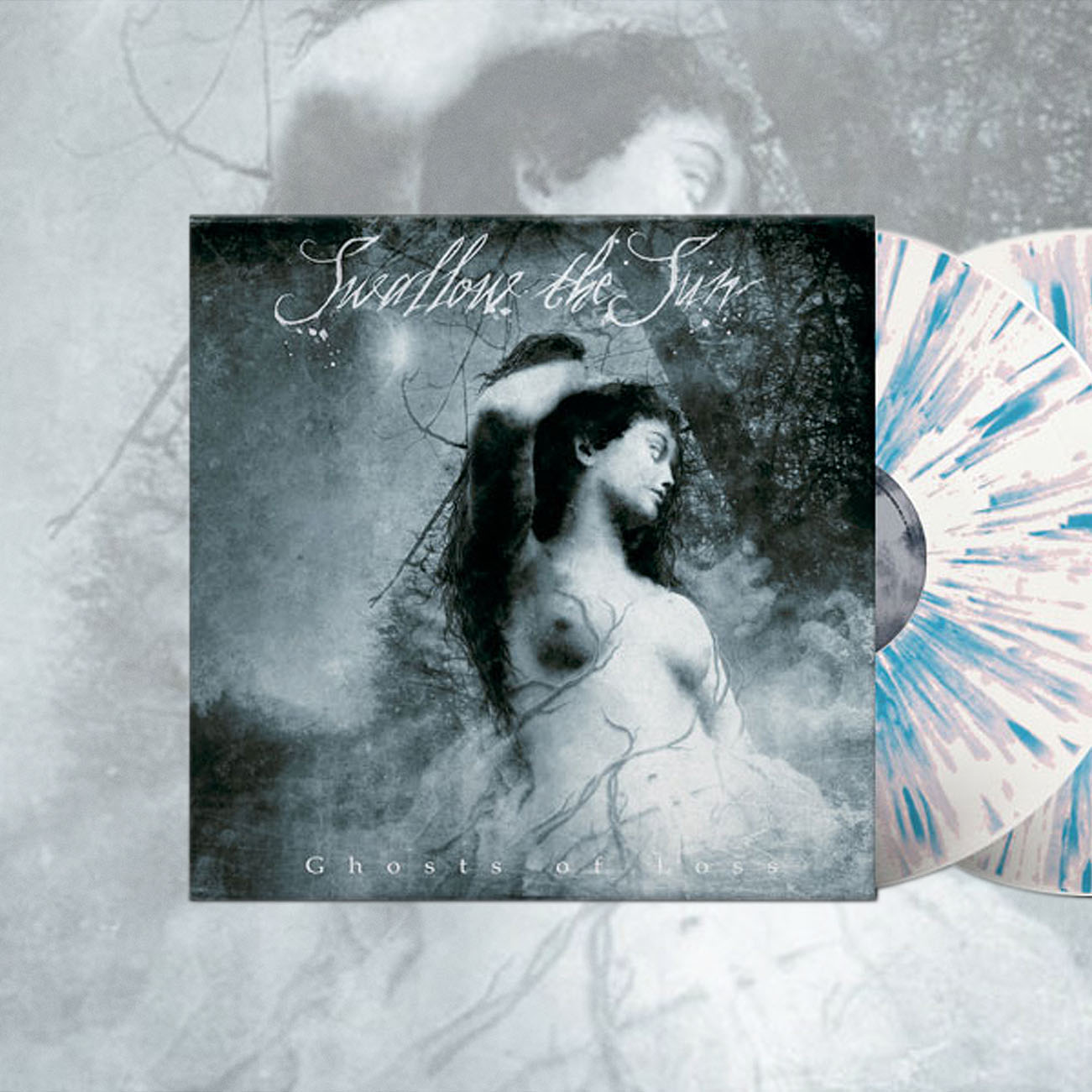 Swallow The Sun  - 'Ghosts of Loss' White/Grey/Blue Splatter 2LP - Swallow The Sun