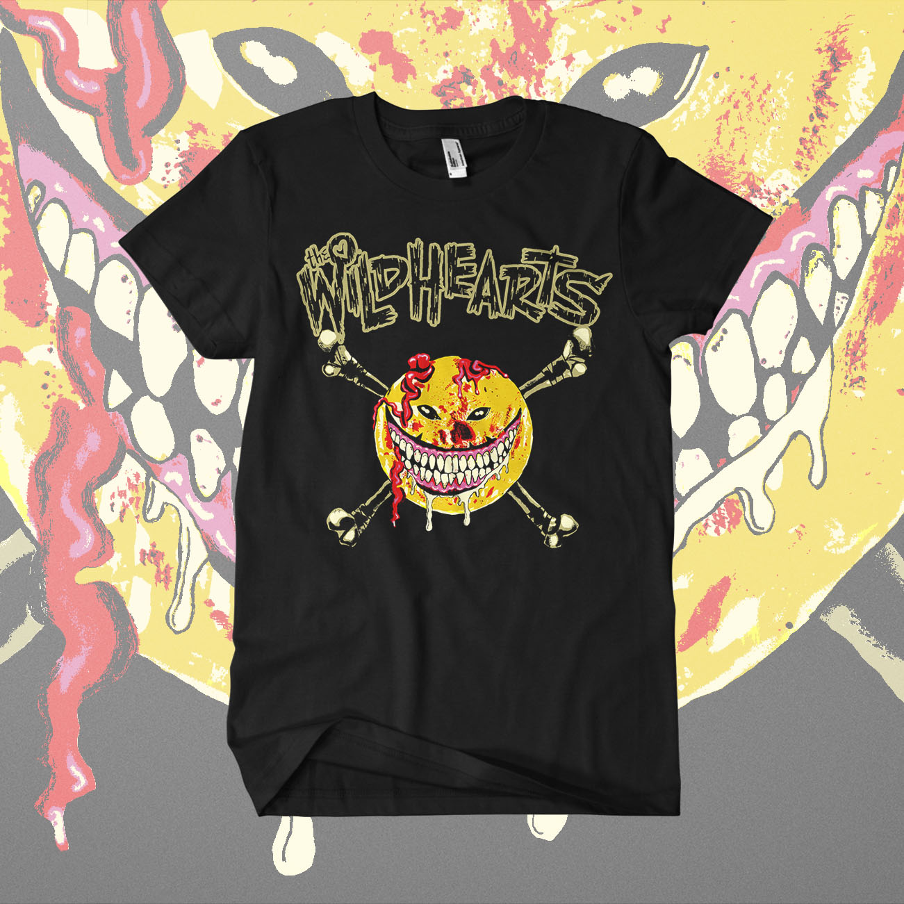 The Wildhearts - 'Smiley Drip' T-Shirt - The Wildhearts