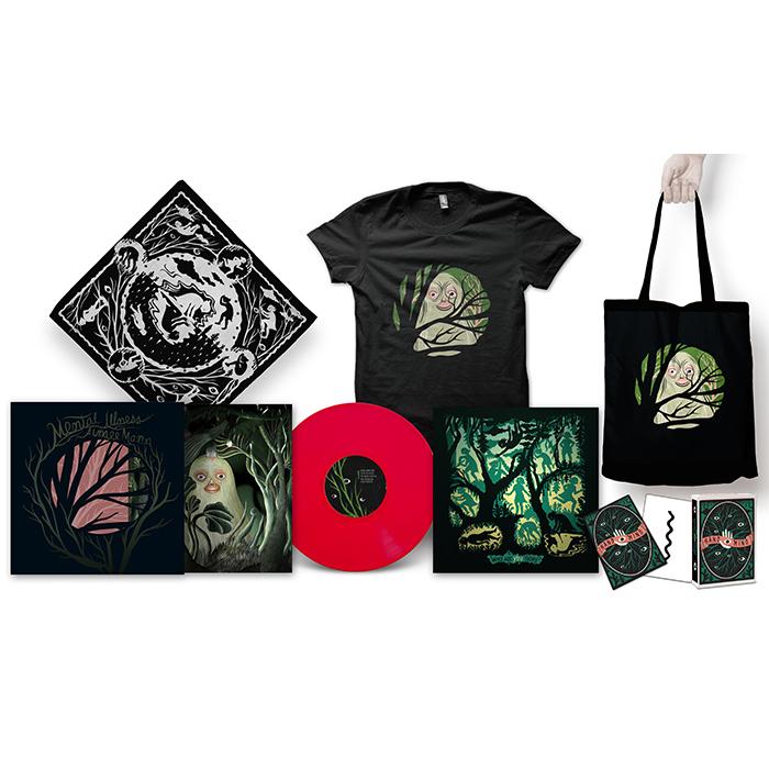 Aimee Mann Mental Illness LP + T-Shirt + Tote Bag + Bandana + Limited Edition Psychological Art therapy Cards Bundle - Aimee Mann