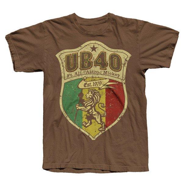 Brown 'Shield Crest' Tee (online exclusive) - UB40