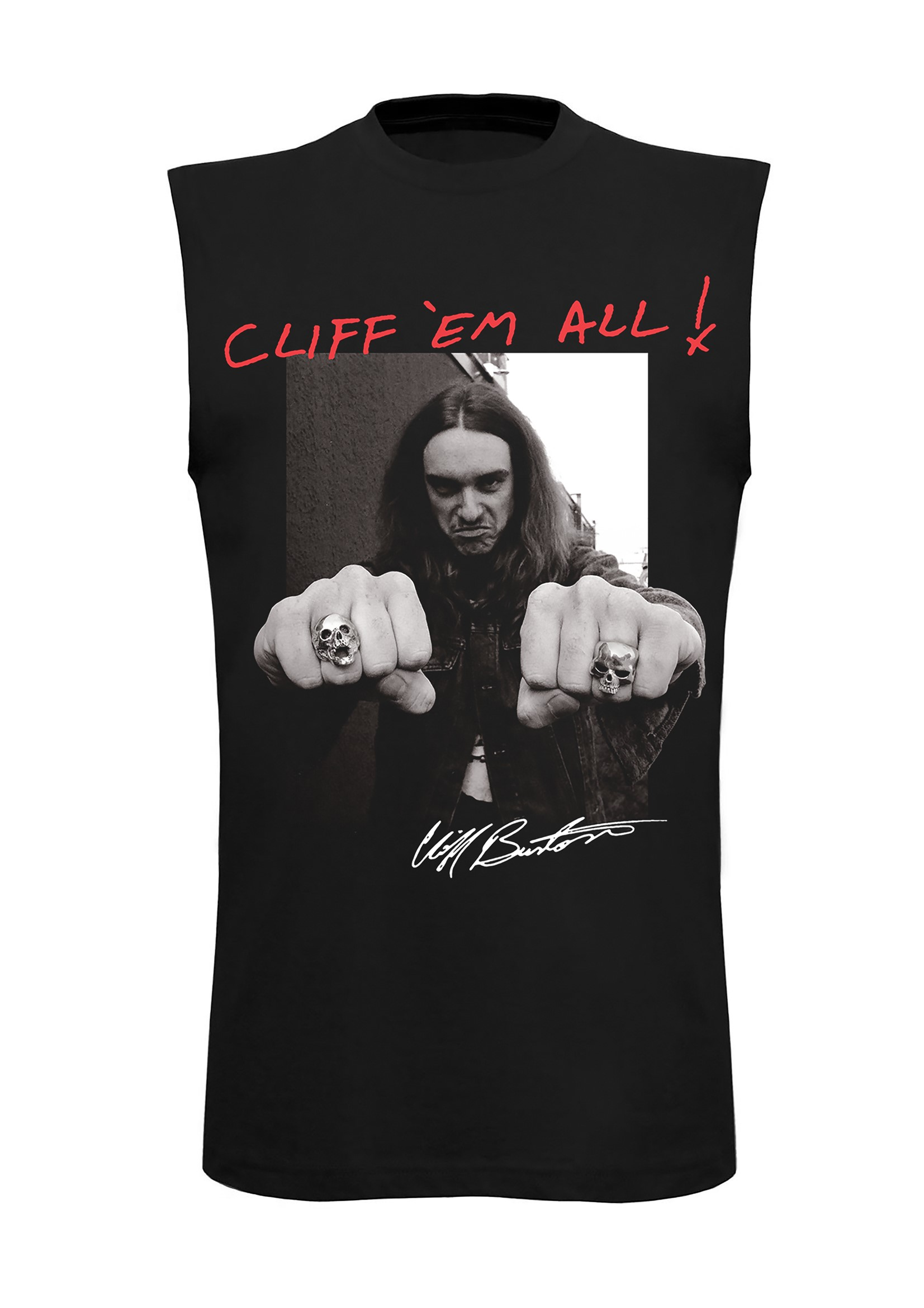 Cliff Burton - Cliff Fists - Sleeveless Tee - Metallica