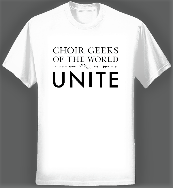 Choir Geeks of the World Unite T-shirt (Women/White) - Eric Whitacre