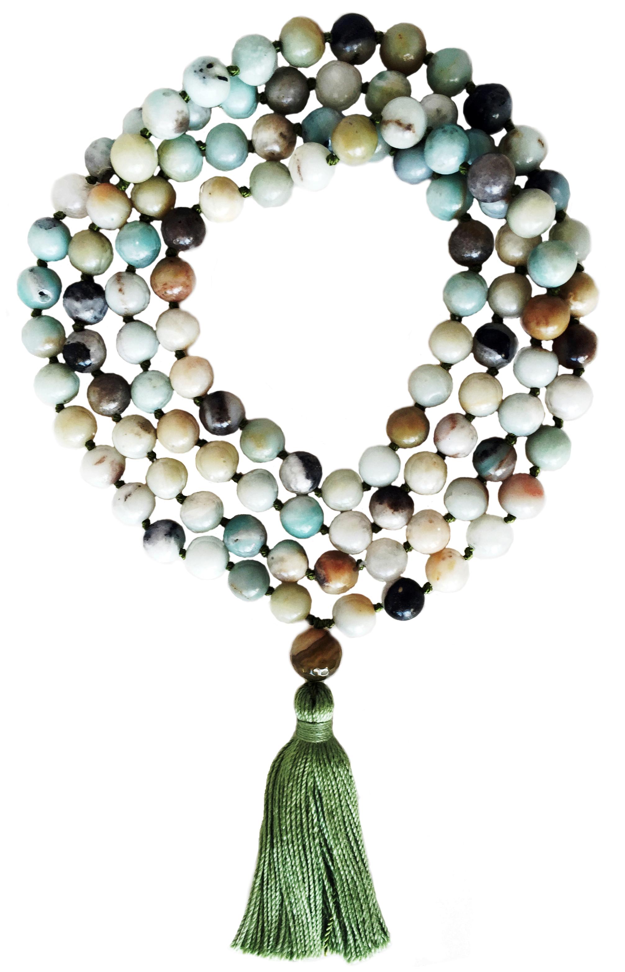 Amazonite Mala - 108 beads - Deva Premal & Miten USD