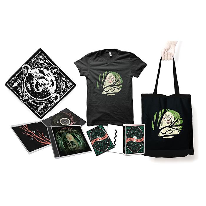 Aimee Mann Mental Illness CD + T-Shirt + Tote Bag + Bandana +  Limited Edition Psychological Art therapy Cards Bundle - Aimee Mann