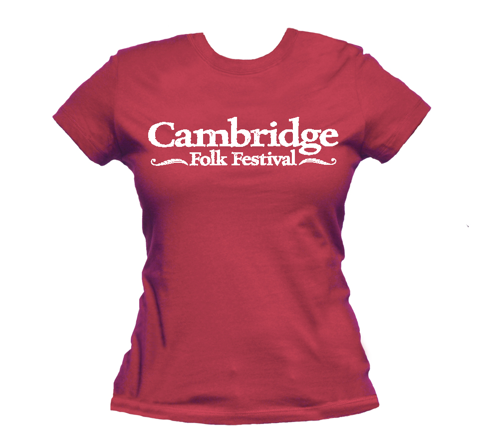 Ladies Cambridge Folk T-shirt (Raspberry) - Cambridge Folk Festival