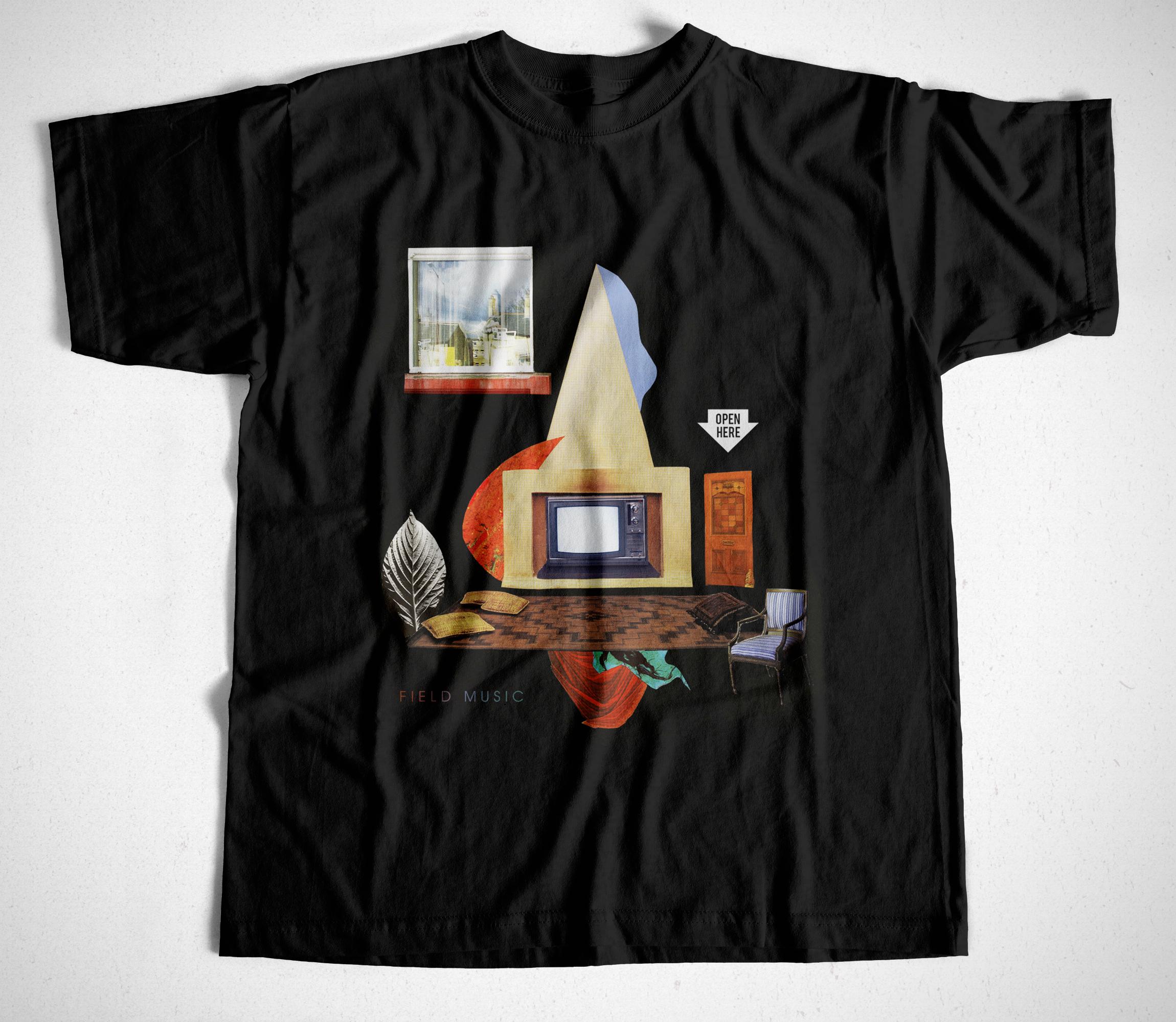 Field Music - Open Here T Shirt - Field Music