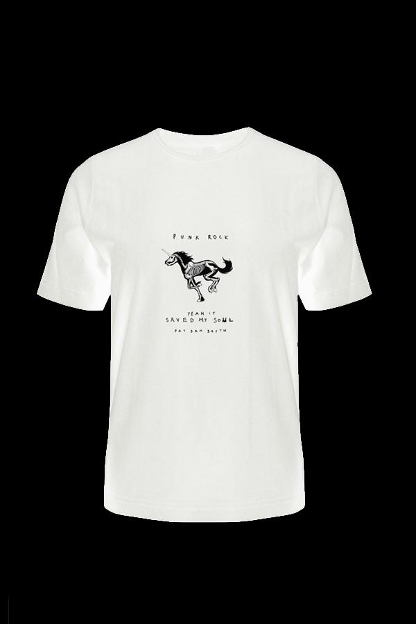 White Unicorn Tee - Pat Dam Smyth