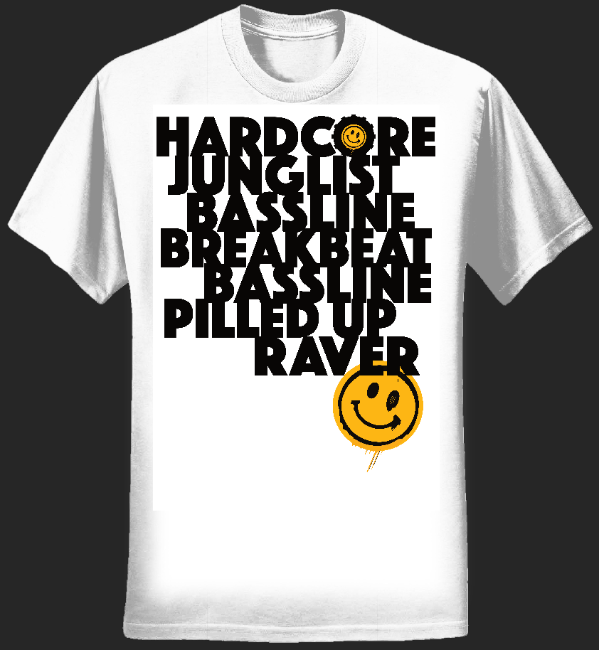 Definition of Rave  Ladies T-Shirt - White - Pressure Music